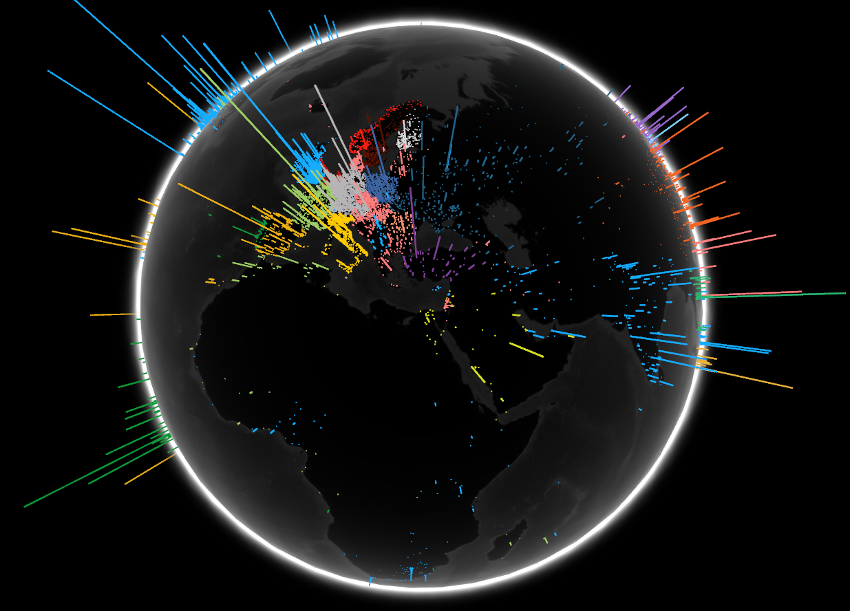 The internet map fascinating ways to visualize the web google search volume by language sciox Choice Image